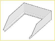 Opzetrand voor bakplaten 800 mm